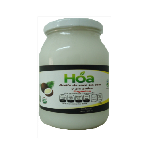 Aceite de Coco Orgánico sin Olor y Sin Sabor