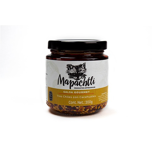 Salsa Gourmet Citlalli Tres Chiles con Cacahuates
