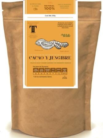 Cacao Amargo y Jengibre en Polvo Certificado Orgánico