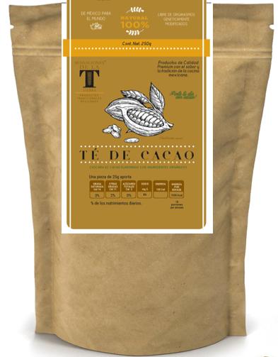 Té de Cacao Amargo con Canela Certificado Orgánico