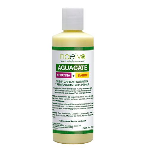 Crema Capilar Nutritiva y Reparadora de Aguacate, Keratina y Karité