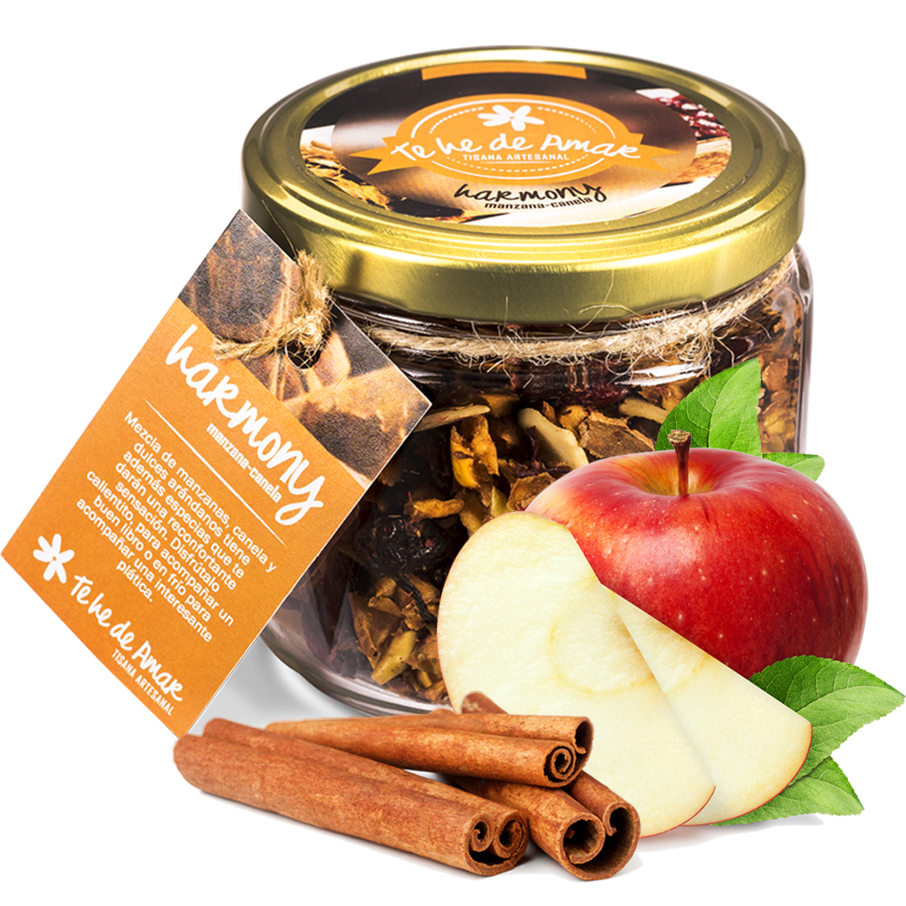 Infusión de Frutas Naturales y Semillas Harmony Manzana y Canela