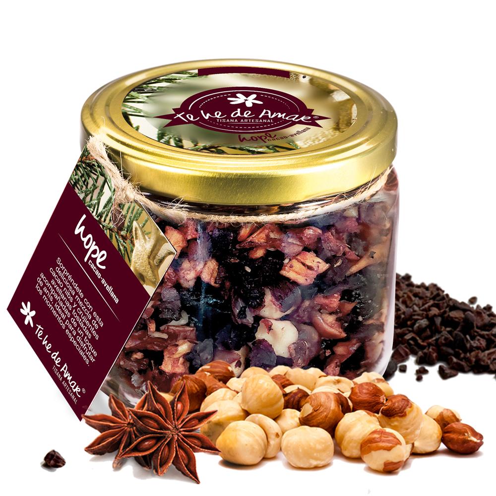 Infusión de Frutas Naturales y Semillas Hope Cacao y Avellana