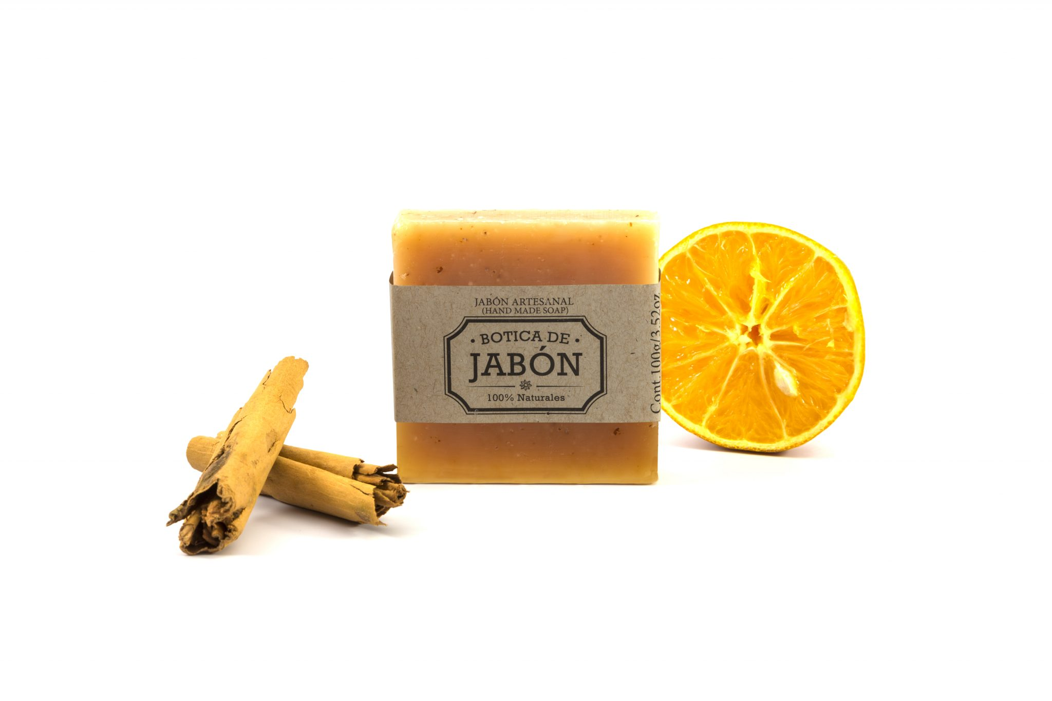 Jabón Artesanal de Naranja Canela