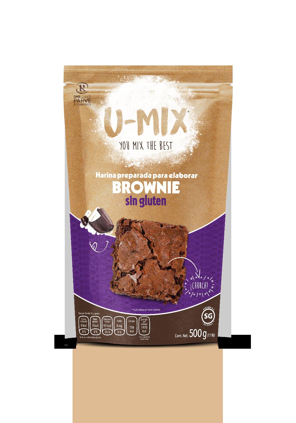 Harina Preparada Para Brownies sin Gluten