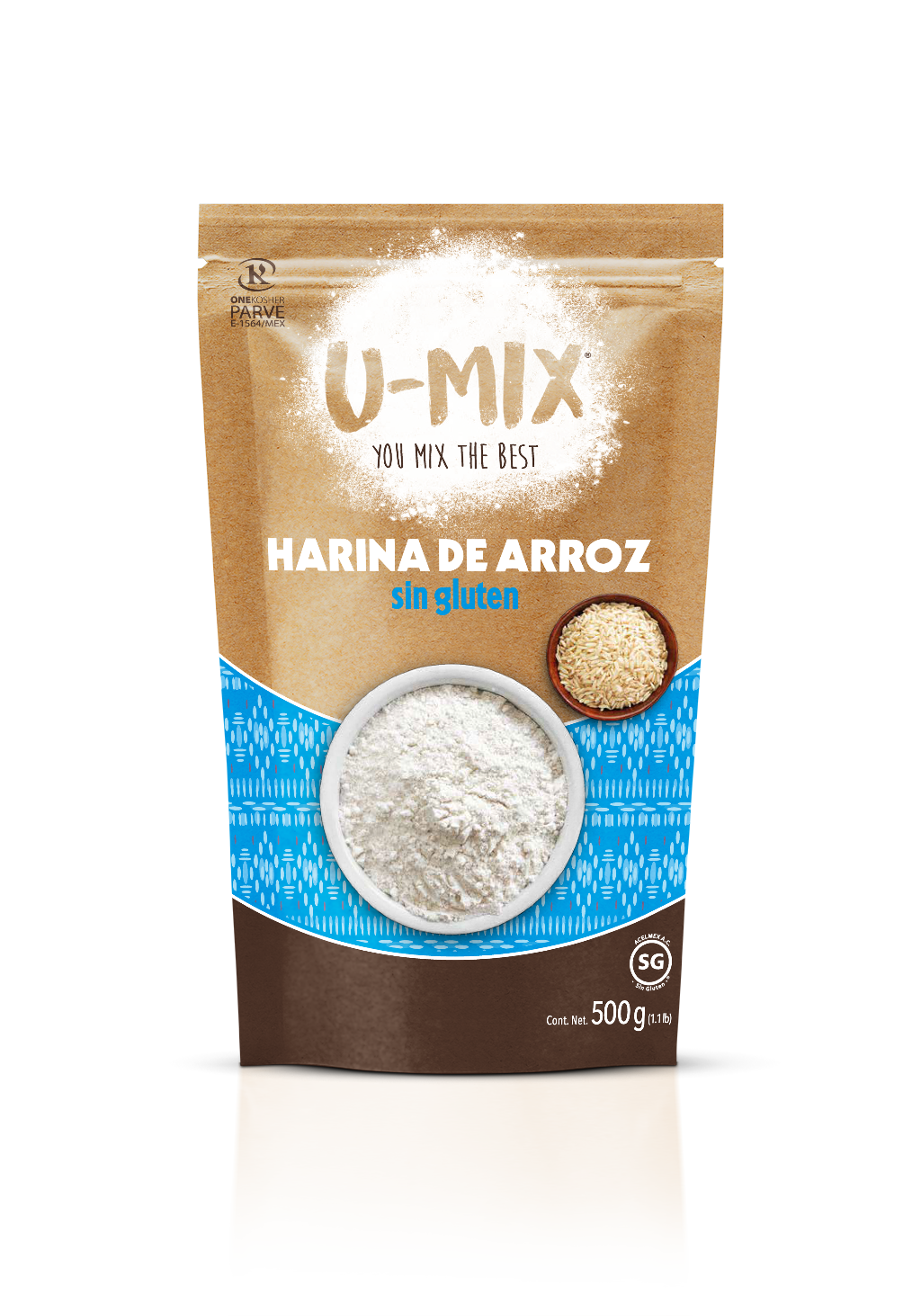 Harina de Arroz sin Gluten U-Mix