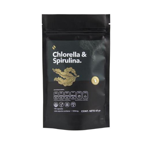 Cápsulas de Chrorella con Spirullina