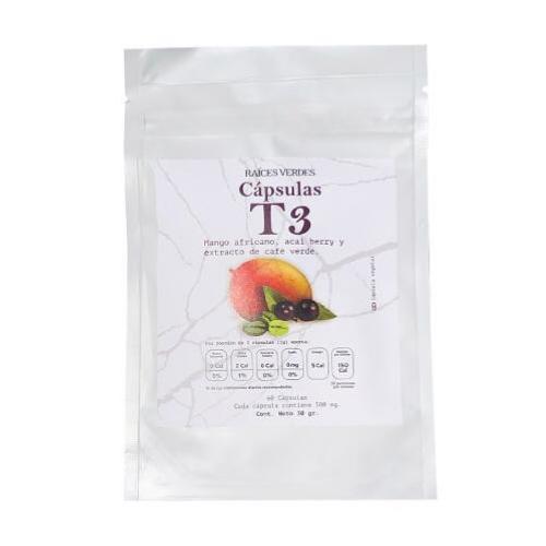 Cápsulas de T3 (Mango Africano, Café Verde y Acai)